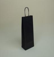 TORBA PAPIEROWA czarna - rozmiar: 14 x 8,5 x 39,5 cm