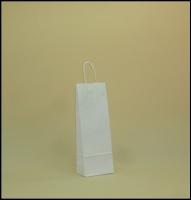 TORBA PAPIEROWA biała - rozmiar: 14 x 8,5 x 39,5 cm