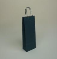 TORBA PAPIEROWA zielona - rozmiar: 14 x 8,5 x 39,5 cm
