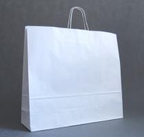 TORBA PAPIEROWA biała - rozmiar: 55 x 15 x 49 cm