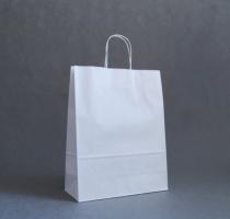 TORBA PAPIEROWA biała - rozmiar: 32 x 13 x 41 cm