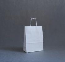 TORBA PAPIEROWA biała - rozmiar: 22 x 10 x 29 cm