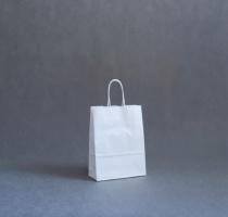 TORBA PAPIEROWA biała - rozmiar: 18 x 8 x 24 cm