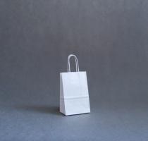 TORBA PAPIEROWA biała - rozmiar: 14 x 8,5 x 21 cm