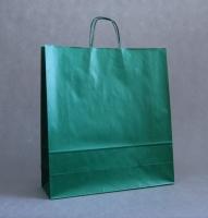 TORBA PAPIEROWA zielona - rozmiar: 45 x 15 x 49 cm