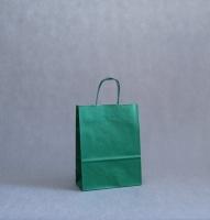 TORBA PAPIEROWA zielona - rozmiar: 22 x 10 x 29 cm