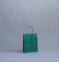 TORBA PAPIEROWA zielona - rozmiar: 18 x 8 x 24 cm