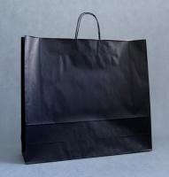 TORBA PAPIEROWA czarna - rozmiar: 55 x 15 x 49 cm OSTATNIE SZTUKI