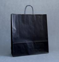 TORBA PAPIEROWA czarna - rozmiar: 45 x 15 x 49 cm OSTATNIE SZTUKI