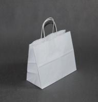 TORBA PAPIEROWA biała - rozmiar: 24 x 11 x 21 cm